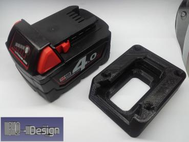 Battery holder for Milwaukee battery M18 / 18V black PLA